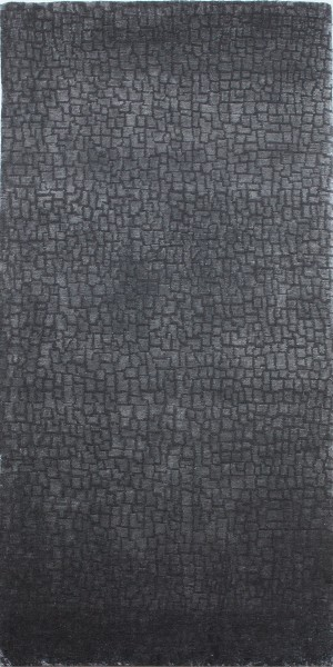 Carpet Small Blocks, wool, silk, 70x140cm