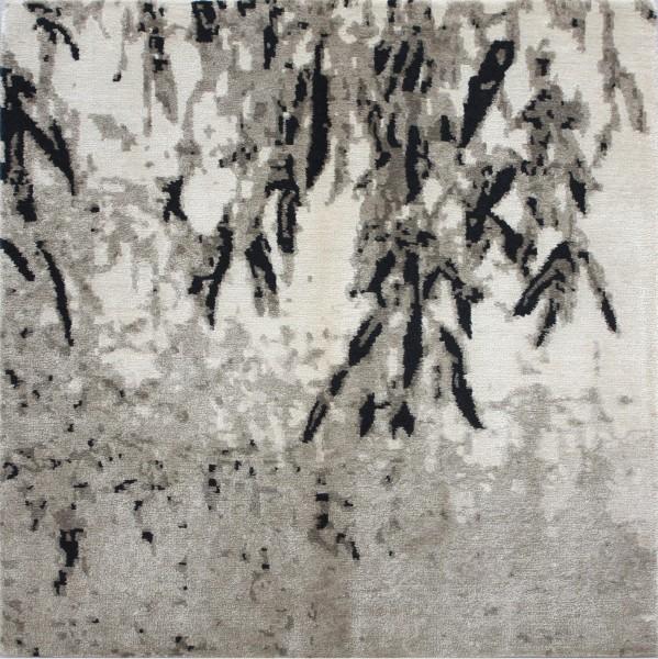 Teppich, Bambu, Mohair, Seide, 100x100cm