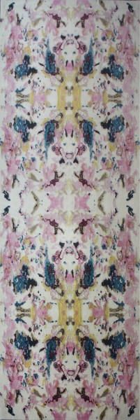 Carpet Kaleidoscope pink, wool, 137x407cm
