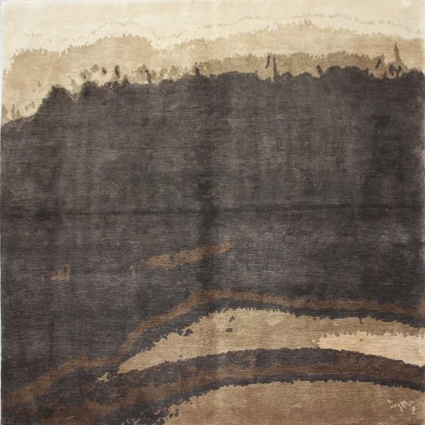 Teppich Landscape, Seide, 150x150cm