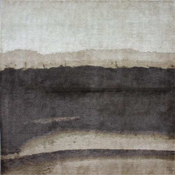 Carpet Landscape, silk-mohair, 150x150cm