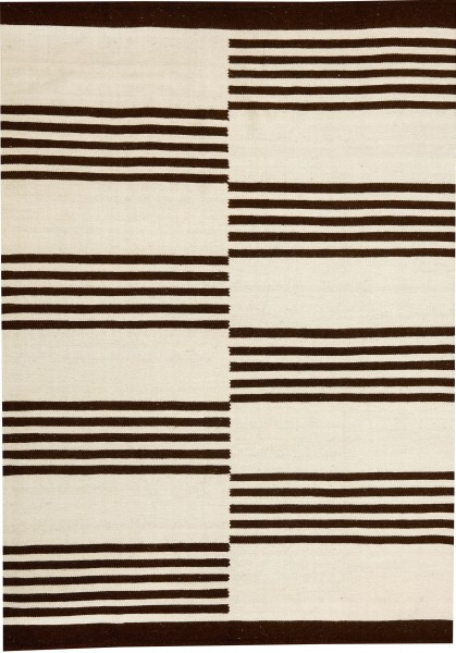 Kelim White-Dark Brown 140x200cm