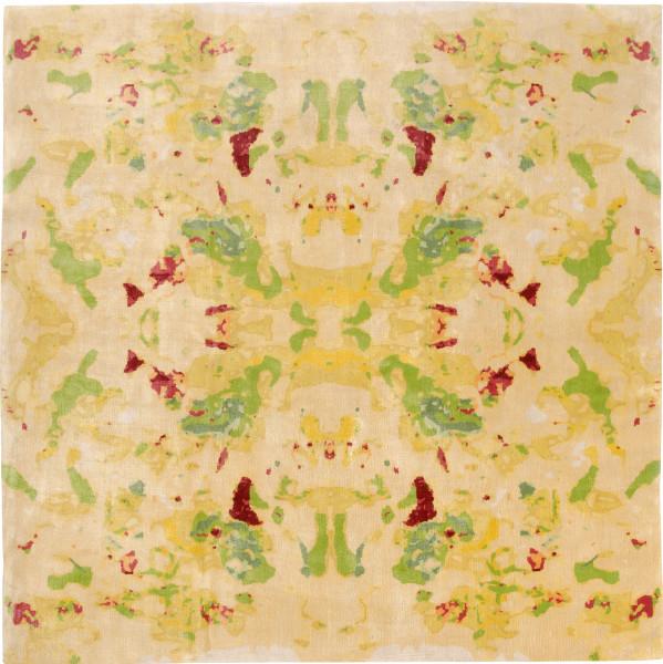 Rug Kaleidoscope yellow, silk