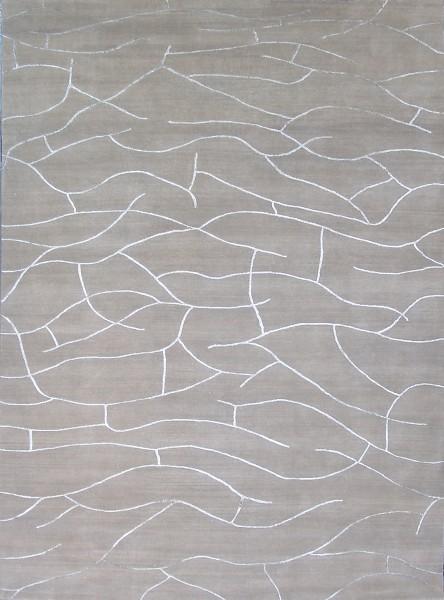 Carpet Craquelé, wool, silk, kalahari