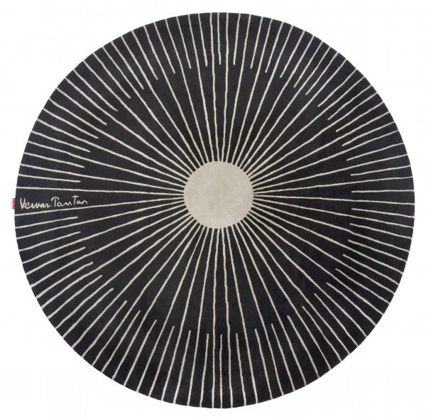 Rug Verner Panton Rays black wool