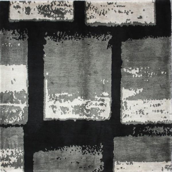 Teppich Squares, Seide, 100x100cm