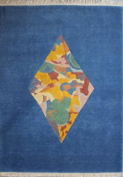 Carpet, wool, blue, 140x203cm